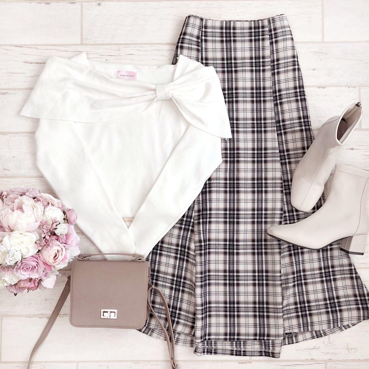 【Fluffy】タータンチェックマーメイドスカート