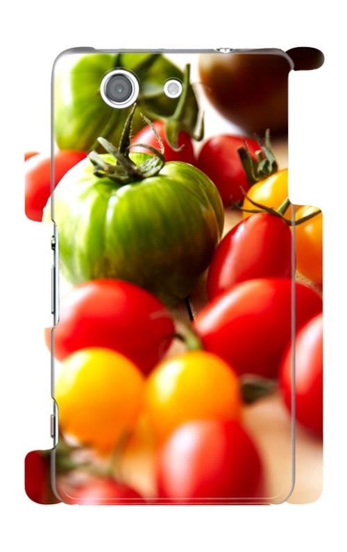 スマホケース 健康野菜 トマト君① Xperia Z3 compact