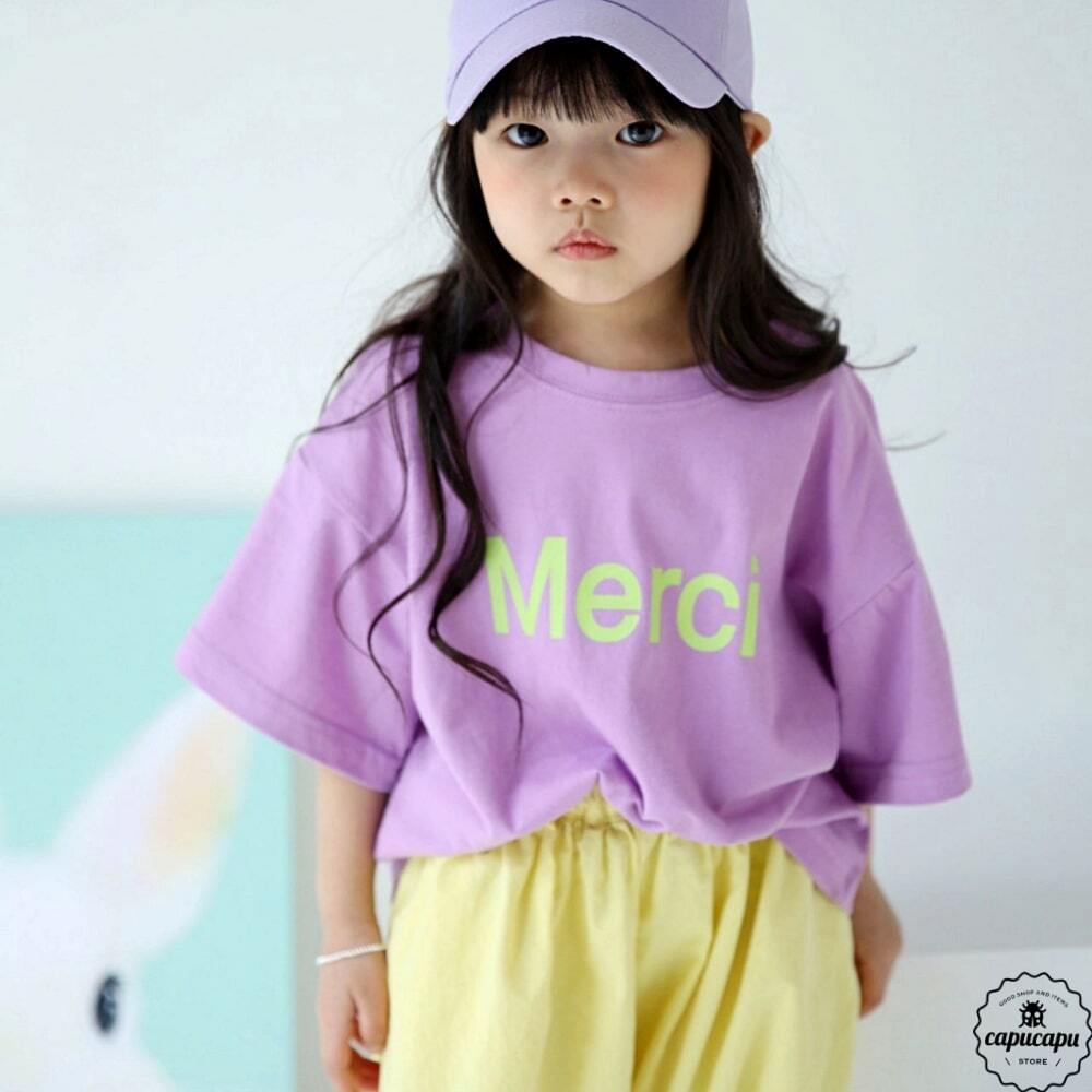 «sold out»«ジュニアサイズ» bubble kiss merci T 5colors メルシーTシャツ