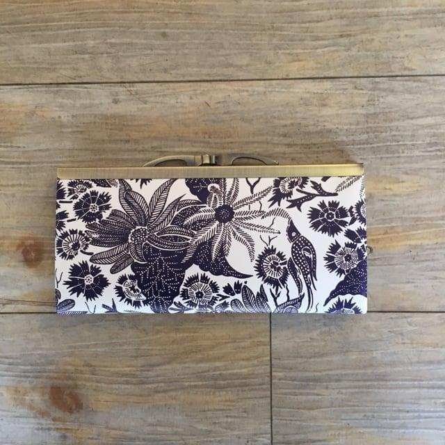【秀和 x pink india】北欧デザイン 牛革がま口復刻長財布   paradise -1