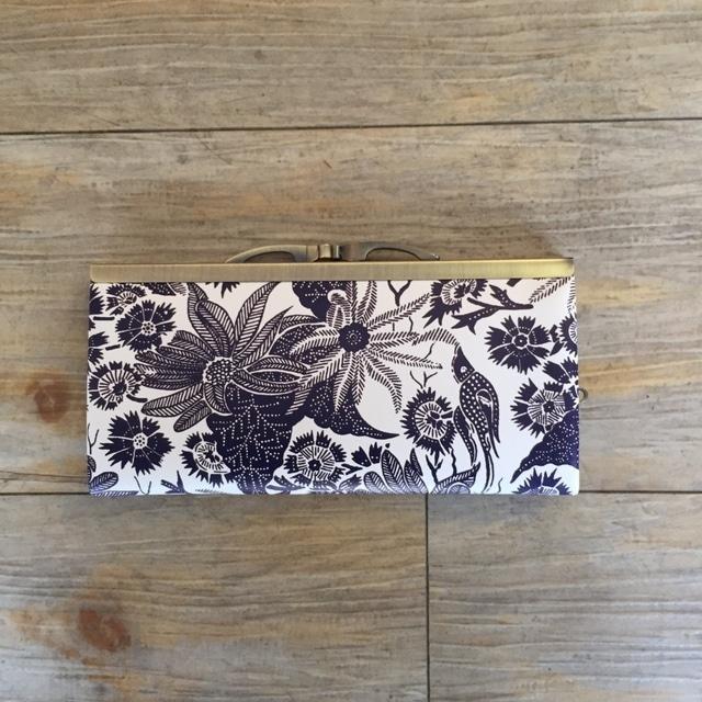 【秀和 x pink india】北欧デザイン 牛革がま口復刻長財布 | paradise -1