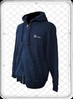 5colors hoodie / ファイブカラーズ バックプリント デニム ジップアップ パーカー