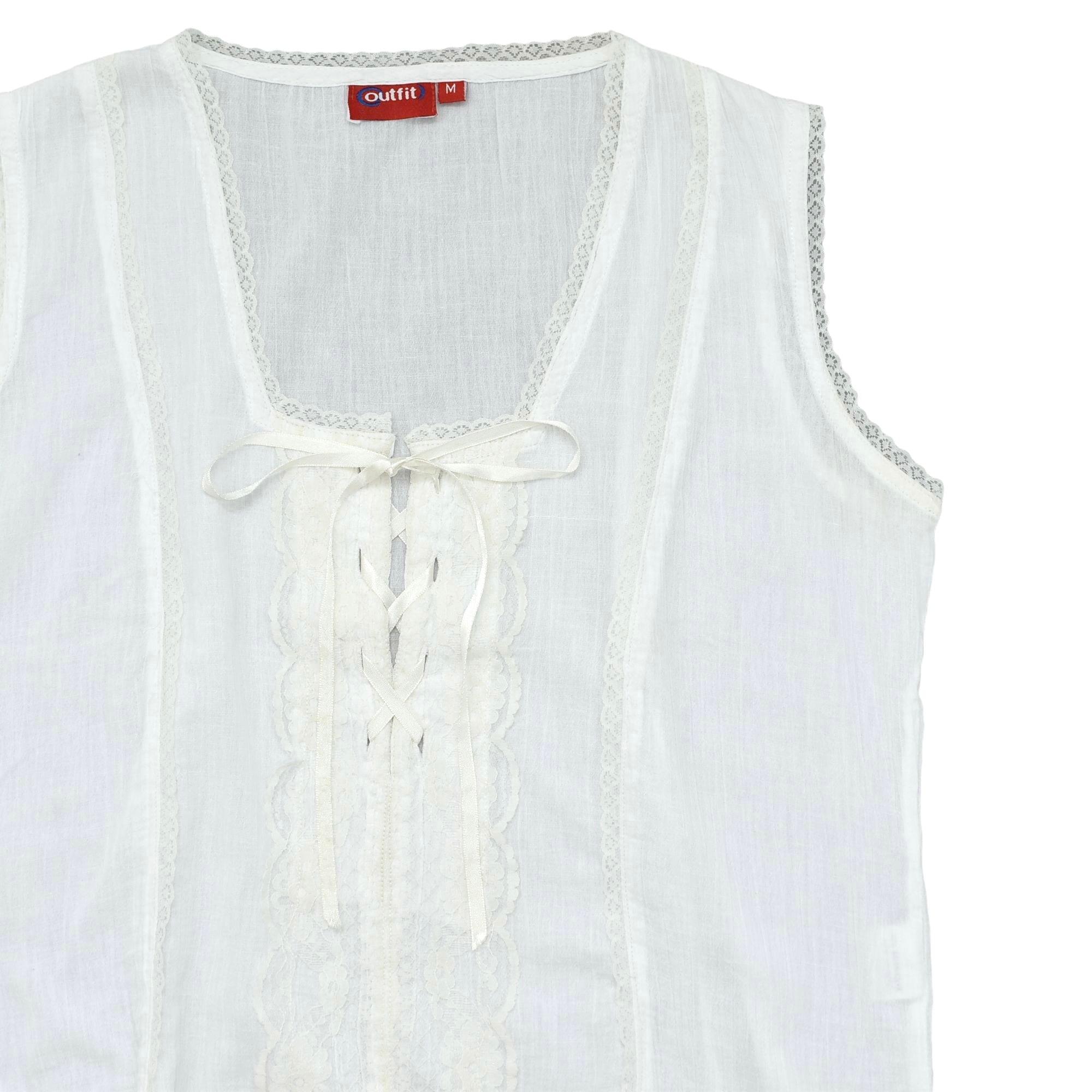Eur vtg outfit crepe  sleeveless blouse
