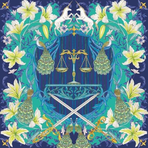 『LA JUSTICE』from ユリの勲章 / シルクスカーフ(スカーフ留め付き)