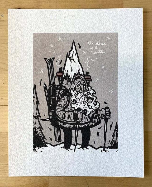 ジョン・フェローズ - OLD MAN IN THE MOUNTAIN アートワーク