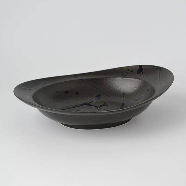 みかわちカレー皿ブラックブラッシュ(化粧箱入)