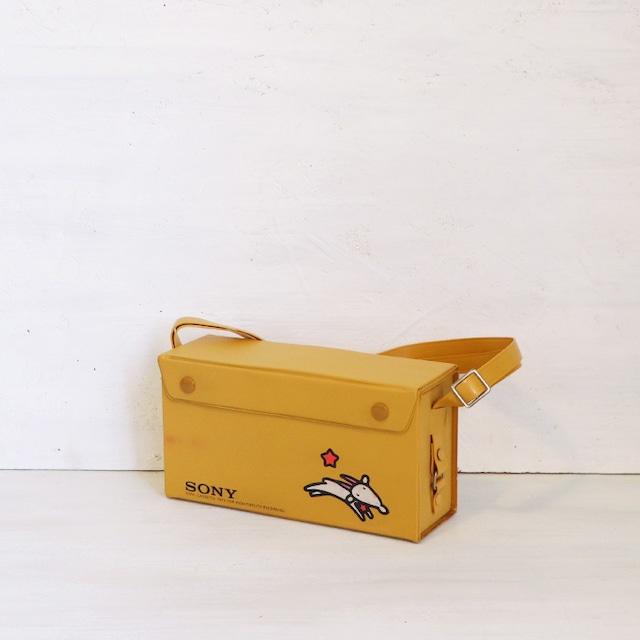 【R-532】レトロ ビニール SONYカセットテープケース犬