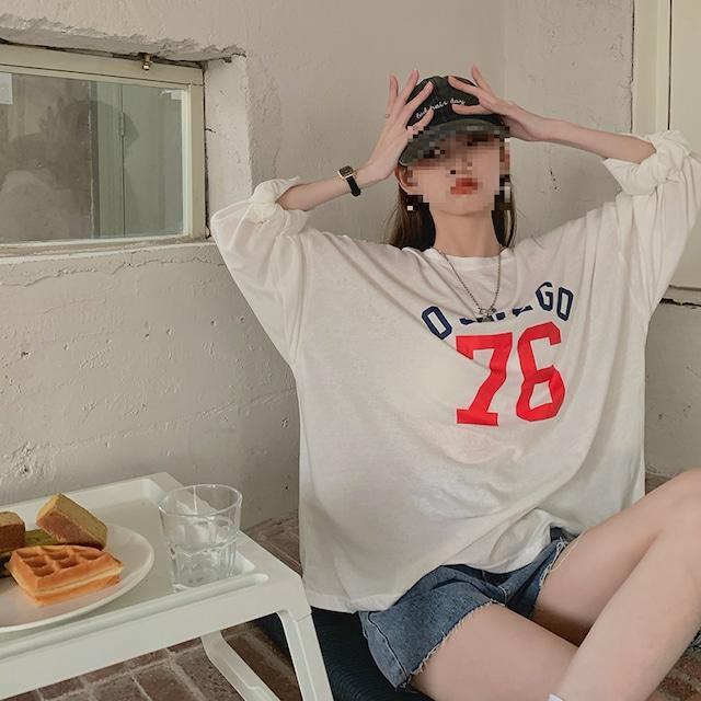 76のラージサイズ長袖Tシャツ 【TR0810】