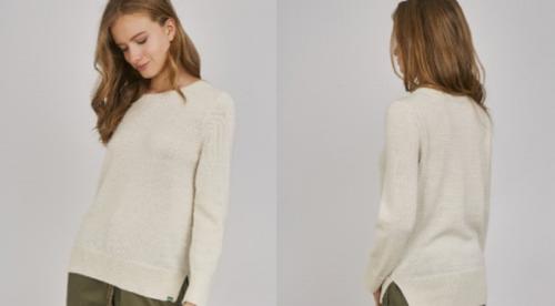 ベビーアルパカ100%クルーネックセーター Baby Alpaca Pullover Sweater