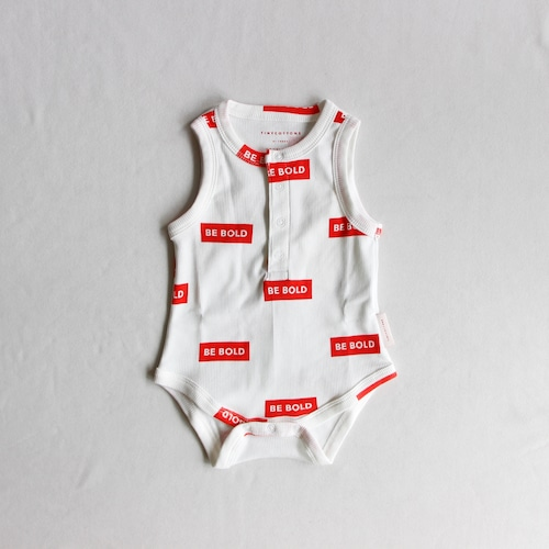 《TINYCOTTONS 2019SS》Be Bold sl Body / off-white × red / 6M