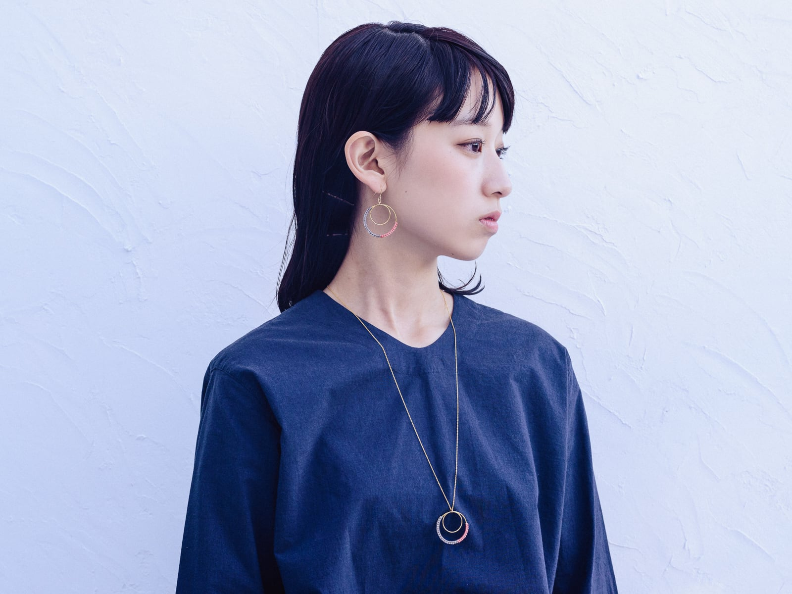 《niruc×KnottWorks》Brass Double Ring Necklace [ロングネックレス]