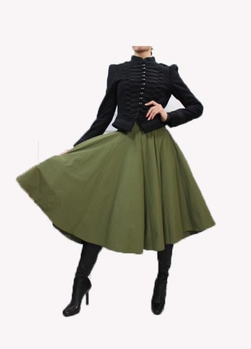 '17 autumn/winter collection Like a Princess Flare Skirt  フレアーミモレ丈スカート