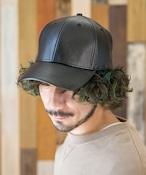 PU LOW CAP【フェイクレザーキャップ】