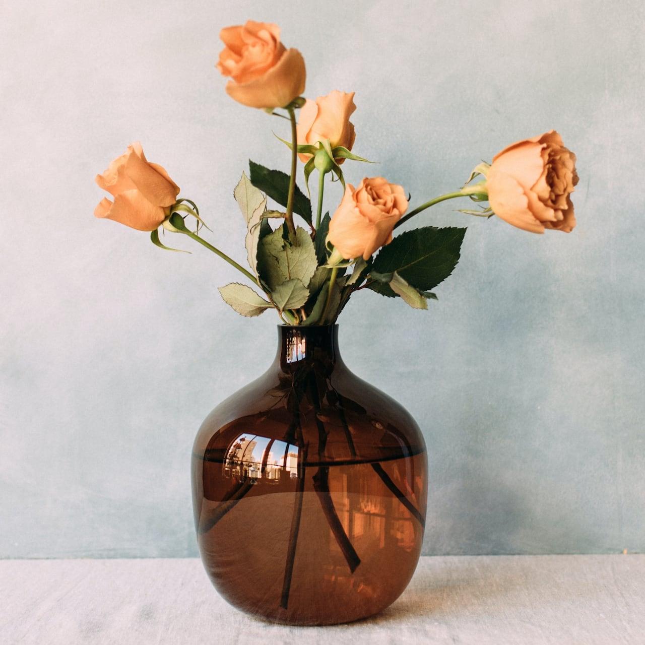 Vessel Vase Brown フラワーベース