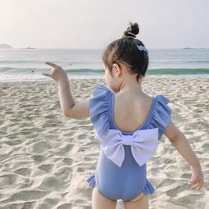 キッズ水着 ロンパース水着 子供水着 女児 女の子用水着 ベビー水着キッズみずぎ スイミング ウェア ジュニア 小学生 9427