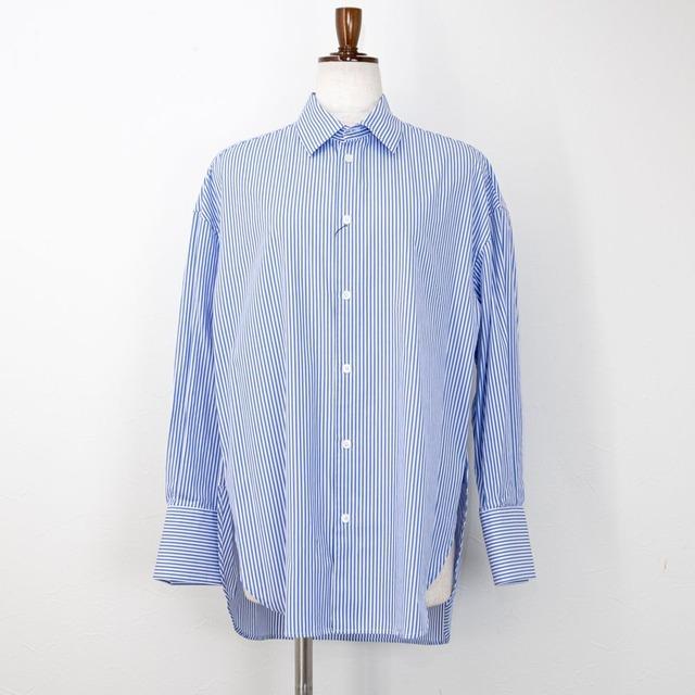 【MACPHEE/マカフィー】ファインコットンサイドオープンシャツ(ストライプ)