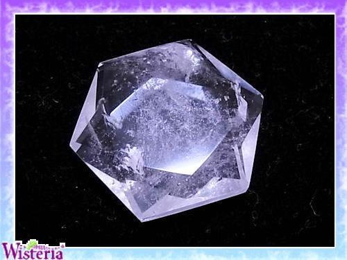 水晶 六芒星(hexagram)  直径40mm×厚み12mm