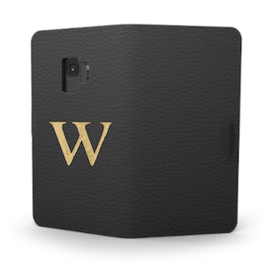 Galaxy Premium Shrink Leather Case (Ink Black)  : Book cover Type