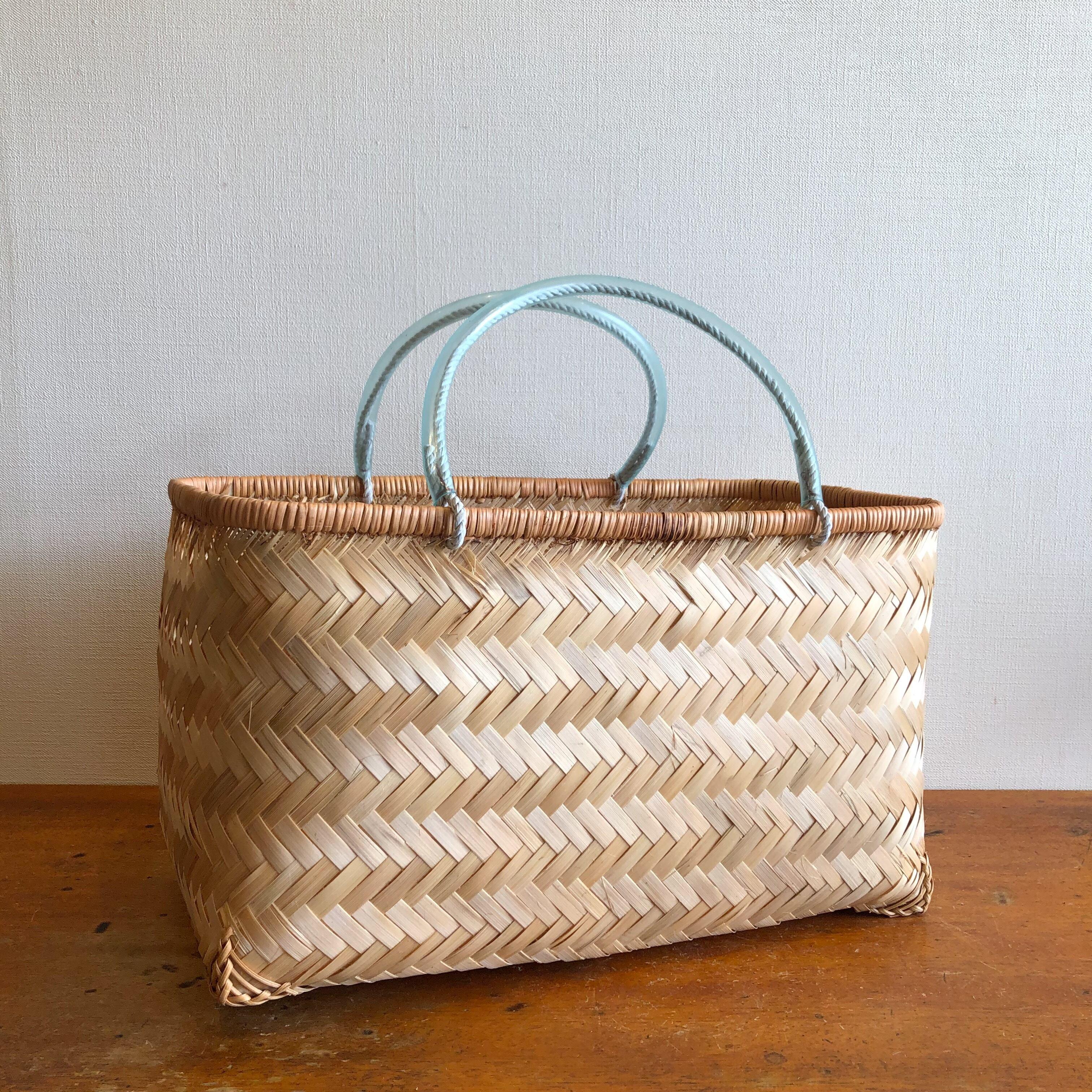 竹編み市場かご(M)