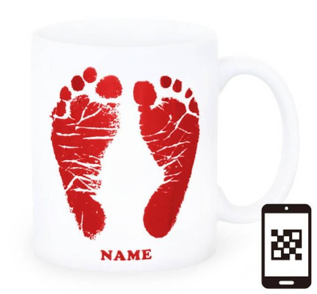 ai mug -white  A-type (RED) QRコード付き