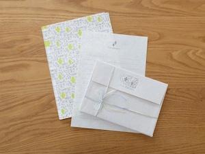 【活版印刷×リソグラフ】Letter set  [ forest ]