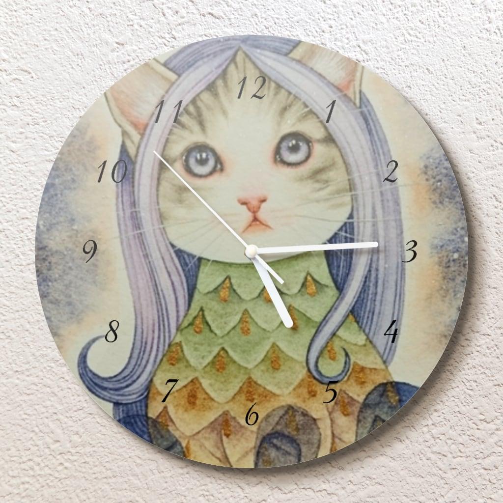 ニャニャビエ壁掛け時計(L)