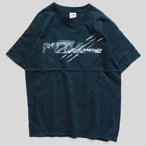 00年代 X-MEN 2 映画 Tシャツ 【M】   エックスメン マーベル アメコミ アメリカ ヴィンテージ 古着