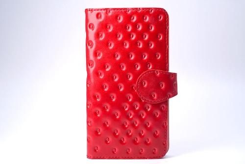 牛革製いちごなスマホケース(Lサイズ)iPhone Plus XR ほか多機種対応