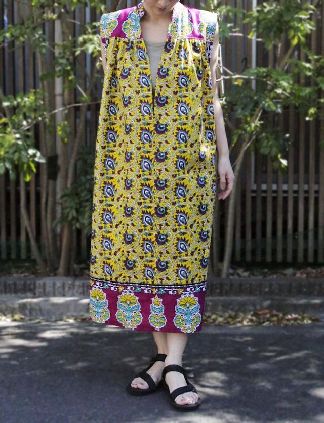 カンガのワンピース|アフリカ布ワンピース