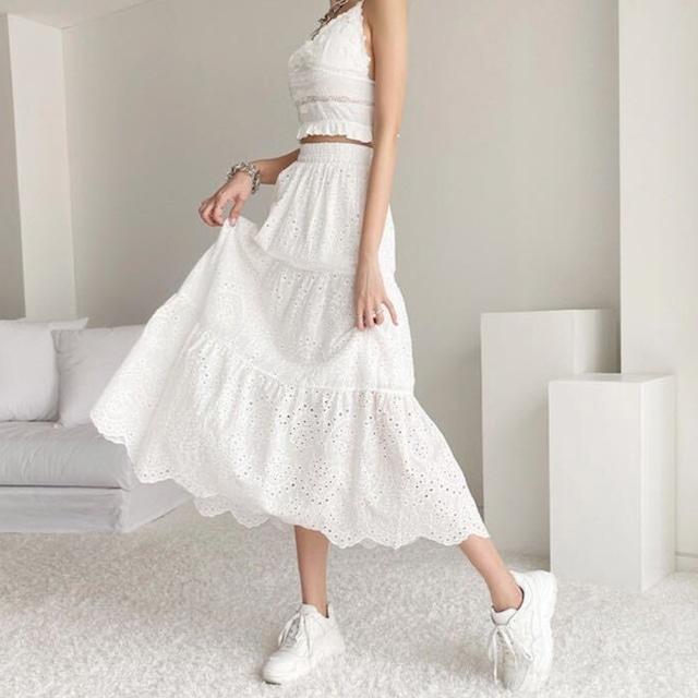 cotton flare skirt [2105-36]