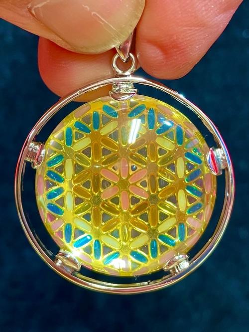 1) 幾何学模様パワー・ペンダント「メタトロン・キューブ」