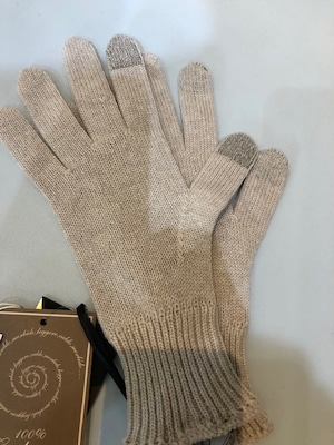 Andre Maurice PORTFOLIO イタリア製 カシミヤニット手袋 20K351