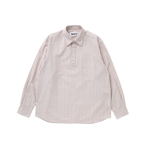Gingham Pullover Shirt(beige)
