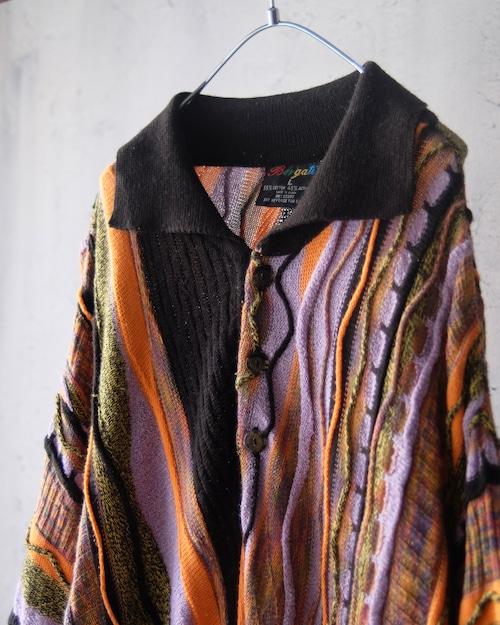 Three-dimensional s/s knit shirt