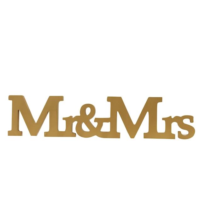 Mr And Mrsゴールドの木製オブジェ/ウェディング小物/パーティーグッズ【..by6sense】