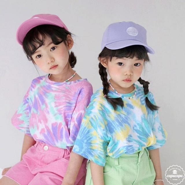 «sold out» bubble kiss Tie dye T タイダイTシャツ