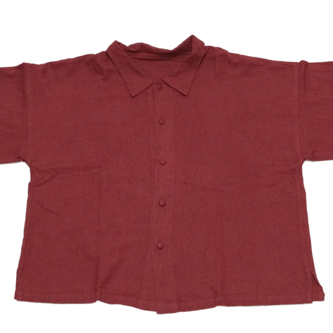 【select】[長袖]Covered button shirt from TAIWAN(くるみボタンシャツ)J-006