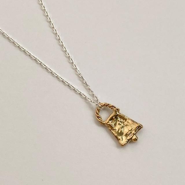 ゴールド&シルバーのコンビネックレス(小さなカウベル) シルバー&純金メッキ仕立て