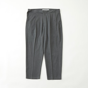 TWILLED JERSEY 1TUCK PANTS - GRAY