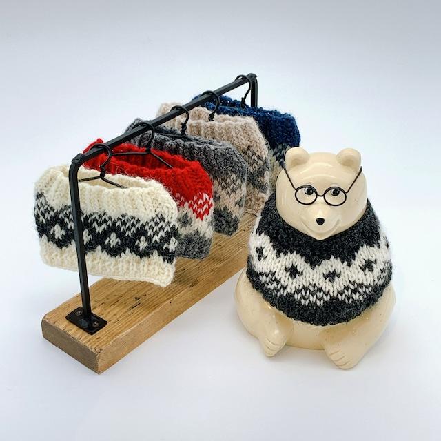 シロクマさんの手編みセーター