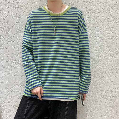 ボーダーダメージロングTシャツ BL9158