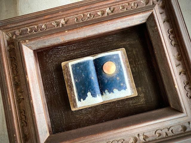 yozora 陶製オブジェ壁掛け ビンテージフレーム
