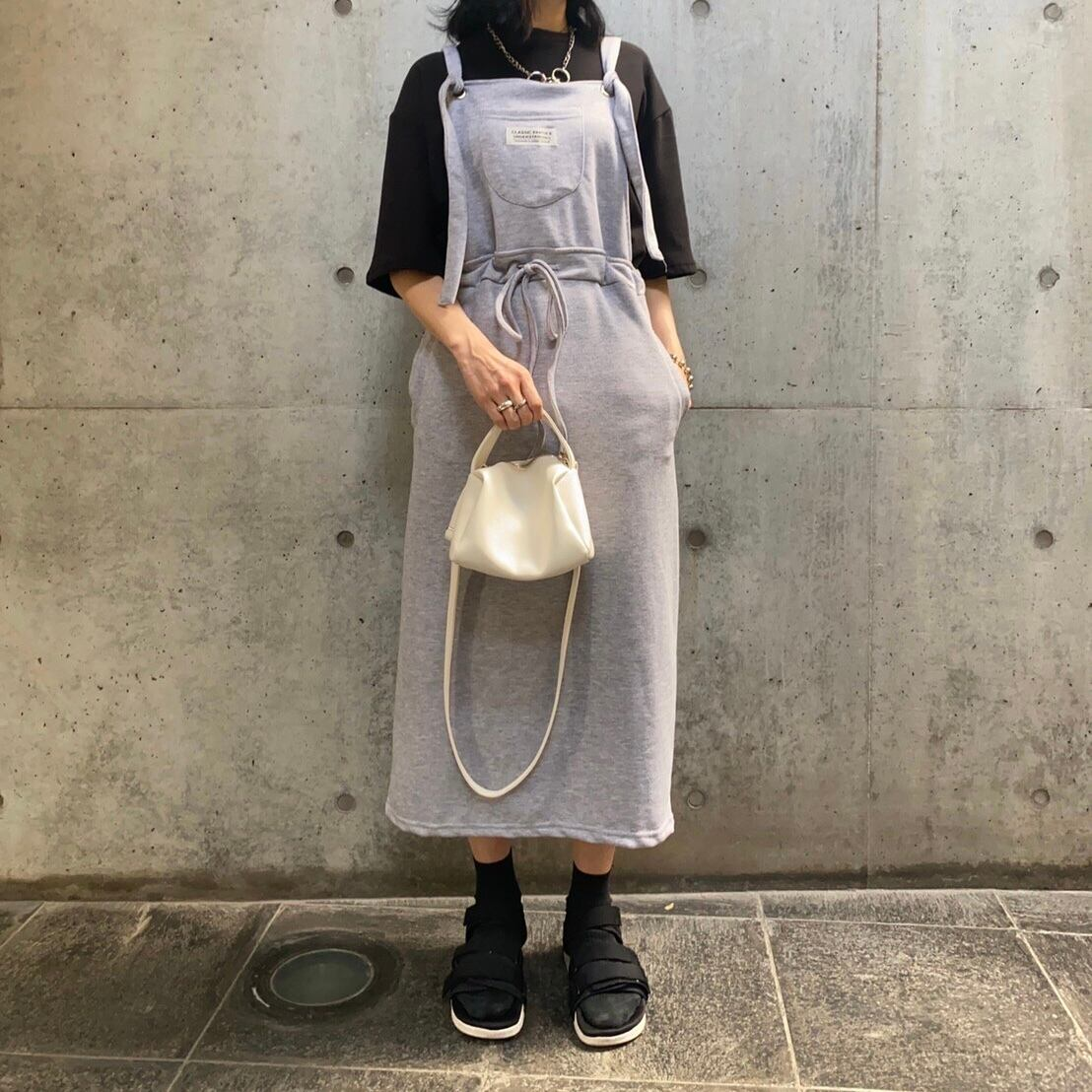 【 imu 】- ミニ裏毛スリットジャンスカ