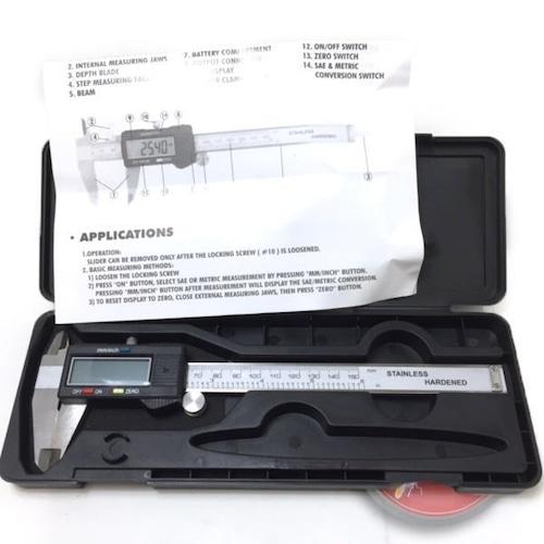 デジタル ノギス 150mm 0.01mm表示 inch/mm切替付/メンテナンス/計測/測定/簡単/便利/a211