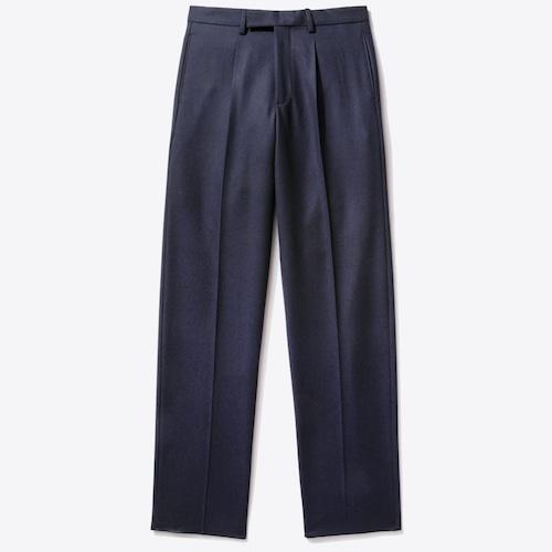 Single-Pleat Trouser(Dark Navy)
