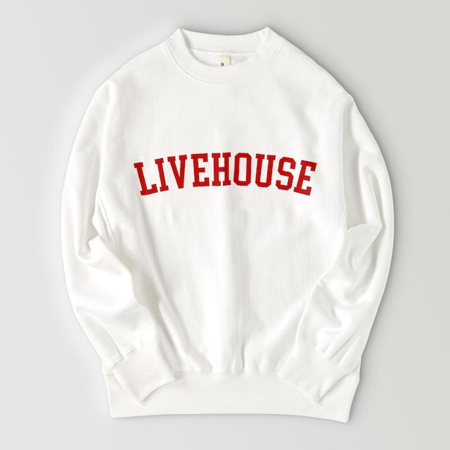 LIVEHOUSE LOGO SWEAT (WHITE)
