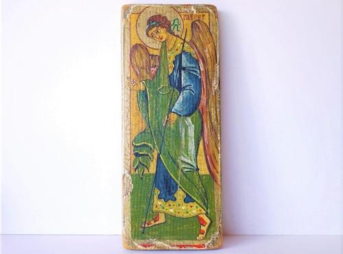 イコン画 大天使ガブリエル 壁掛板絵