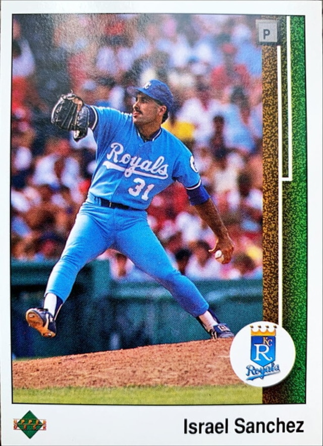 MLBカード 89UPPERDECK Israel Sanchez #326 ROYALS