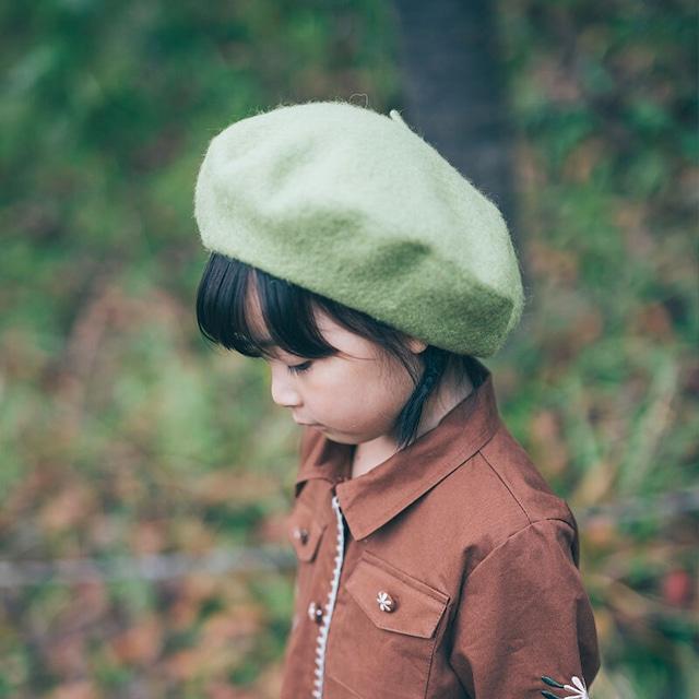 «即納» kids wool beret hat 5colors ウールベレー帽