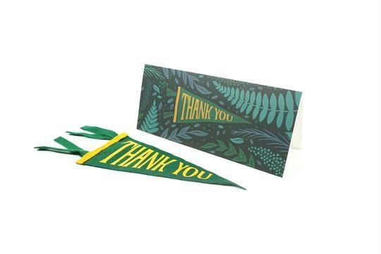 THANK YOU Greeting Card & Mini Pennant